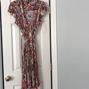 Floral patterned mod dress